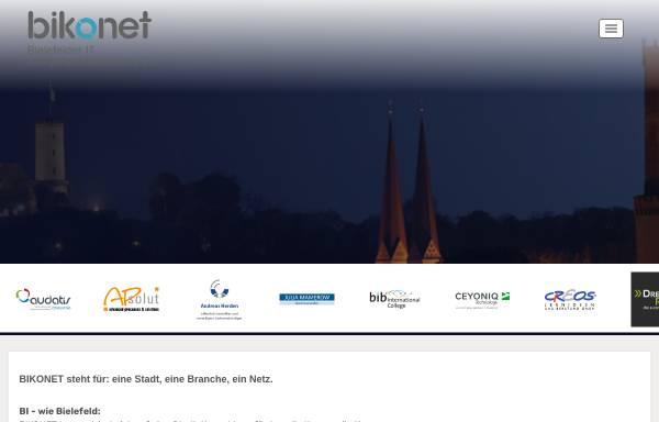 Vorschau von www.bikonet.de, Bielefelder IT-Kompetenznetzwerk e.V.