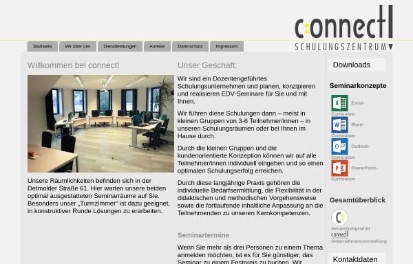 Vorschau von www.connect-schulungszentrum.de, Connect! Schulungszentrum