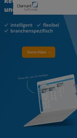 Vorschau der mobilen Webseite www.diamant-software.de, Diamant Software GmbH & Co. KG