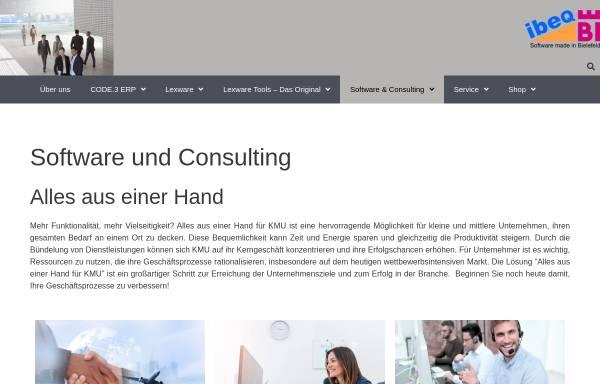 Vorschau von www.ibeq.com, ibeq GmbH