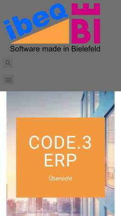 Vorschau der mobilen Webseite www.ibeq.com, ibeq GmbH