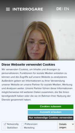 Vorschau der mobilen Webseite www.interrogare.de, Interrogare GmbH
