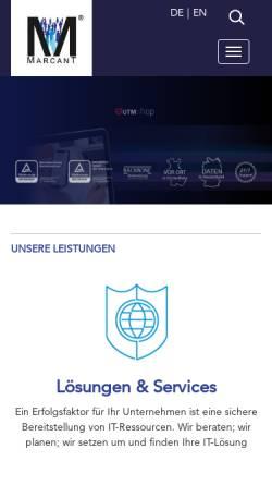 Vorschau der mobilen Webseite www.marcant.net, MarcanT InterNet-Services GmbH