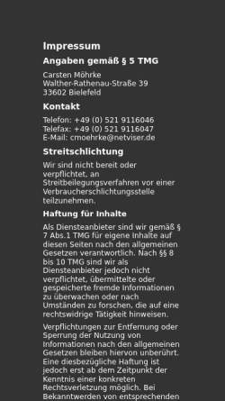Vorschau der mobilen Webseite www.netviser.de, Netviser Internet Beratung e.K.