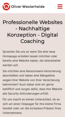 Vorschau der mobilen Webseite www.westerheide-media.de, Oliver Westerheide