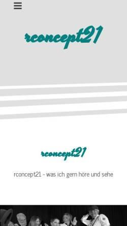 Vorschau der mobilen Webseite www.rconcept.de, rconcept Holger Roggemann