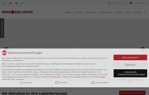 Vorschau von www.weberdata.de, Weber Data Service GmbH