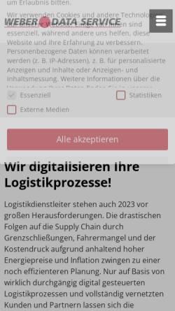 Vorschau der mobilen Webseite www.weberdata.de, Weber Data Service GmbH