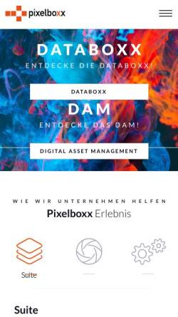 Vorschau der mobilen Webseite www.pixelboxx.de, Pixelboxx GmbH