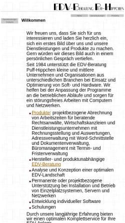 Vorschau der mobilen Webseite www.puff-hippchen.de, EDV-Beratung Puff-Hippchen