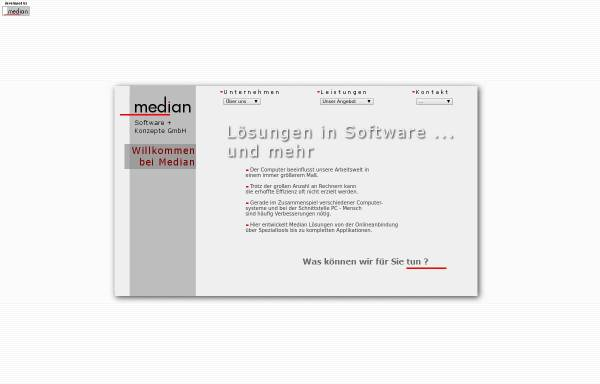 Vorschau von www.mediangmbh.de, Median Software und Konzepte GmbH