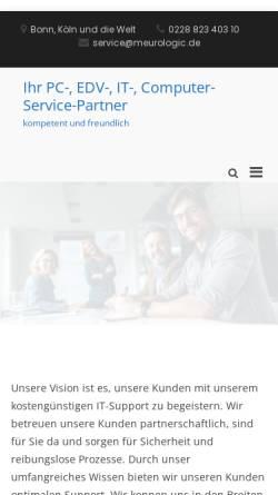 Vorschau der mobilen Webseite meurologic.de, meurologic Inh. Frank Meurer