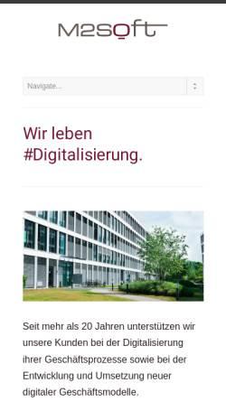 Vorschau der mobilen Webseite www.m2soft.com, M2Soft GmbH