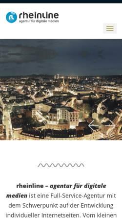 Vorschau der mobilen Webseite www.rheinline.de, rheinline - agentur für digitale medien