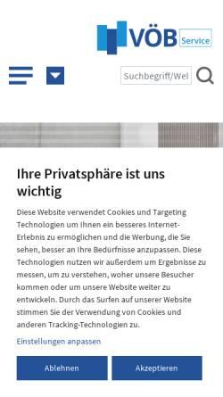 Vorschau der mobilen Webseite www.voeb-service.de, VÖB-Service GmbH