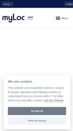 Vorschau der mobilen Webseite www.myloc.de, myLoc Managed Infrastructure AG
