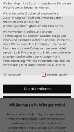 Vorschau der mobilen Webseite www.tourismus-badlaasphe.de, Bad Laasphe