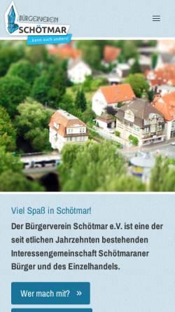 Vorschau der mobilen Webseite www.buergerverein-schoetmar.de, Bürgerverein Schötmar e.V.
