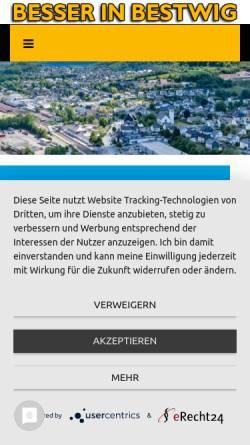 Vorschau der mobilen Webseite www.besser-in-bestwig.de, Besser in Bestwig - Werbegemeinschaft Bestwig e.V.