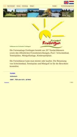 Vorschau der mobilen Webseite www.feriendorf-freilingen.de, Feriendorf Freilingen