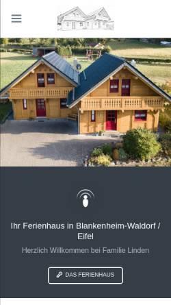 Vorschau der mobilen Webseite www.eifeler-ferienhaus.de, Ferienhaus Linden