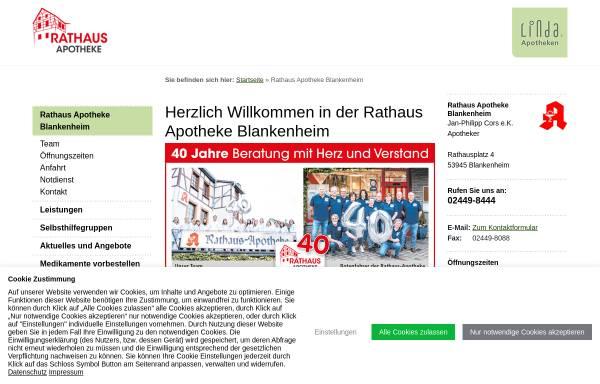 Vorschau von www.rathaus-apotheke-blankenheim.de, Rathaus Apotheke