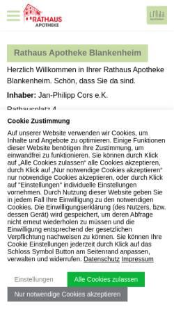 Vorschau der mobilen Webseite www.rathaus-apotheke-blankenheim.de, Rathaus Apotheke