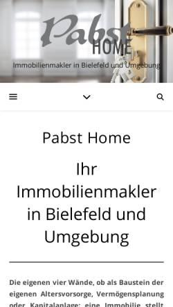 Vorschau der mobilen Webseite www.pabsthome.com, Modelle Pabst