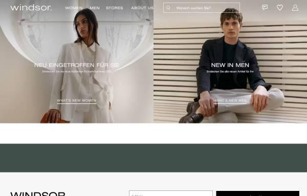 Vorschau von www.windsor.de, Windsor Damen- und Herrenbekleidung GmbH