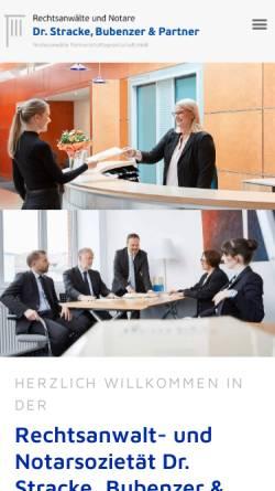 Vorschau der mobilen Webseite www.ra-stracke.de, Dr. Stracke, Bubenzer & Kollegen