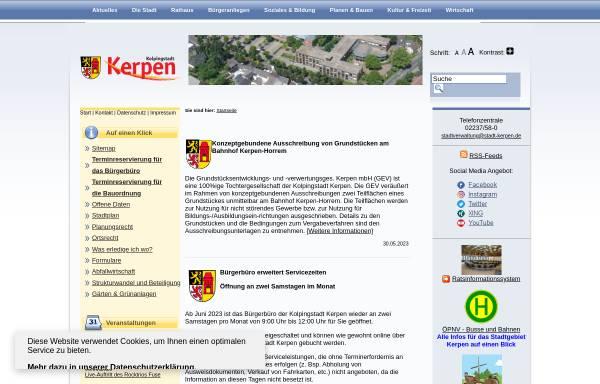 Vorschau von www.stadt-kerpen.de, Stadt Kerpen