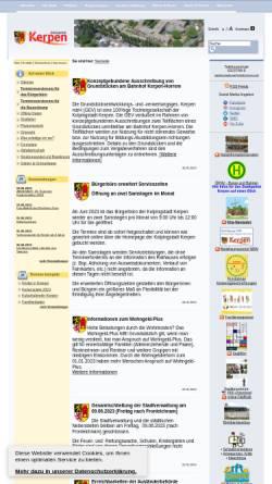 Vorschau der mobilen Webseite www.stadt-kerpen.de, Stadt Kerpen