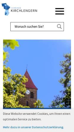 Vorschau der mobilen Webseite www.kirchlengern.de, Gemeinde Kirchlengern