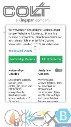 Vorschau der mobilen Webseite www.colt-info.de, Colt International GmbH, Kleve