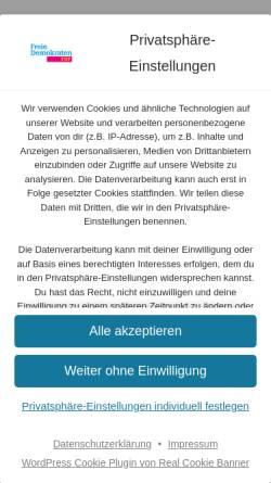 Vorschau der mobilen Webseite fdp-kle.de, FDP Kleve