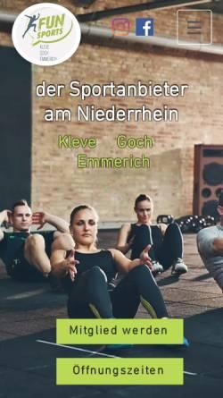 Vorschau der mobilen Webseite www.funsportskleve.de, Funsports Kleve