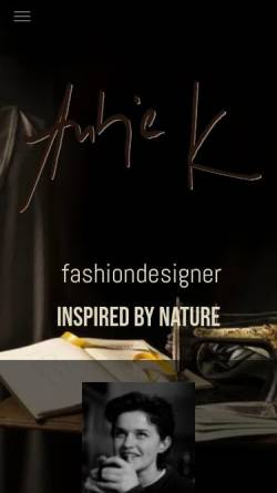 Vorschau der mobilen Webseite www.fashion-design.de, Modedesign Antje K.