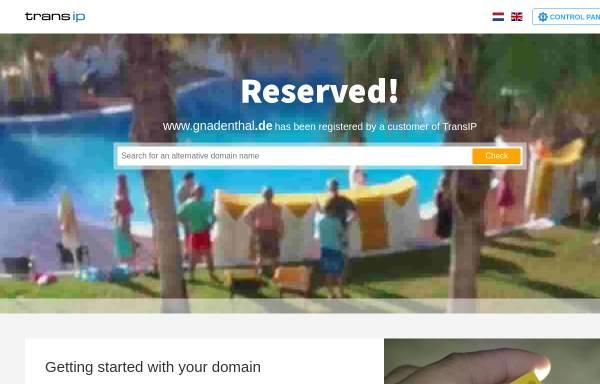 Vorschau von www.gnadenthal.de, Schloss Gnadenthal