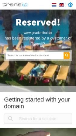 Vorschau der mobilen Webseite www.gnadenthal.de, Schloss Gnadenthal