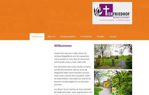 Vorschau von www.boennschenhof.de, Tierfriedhof Bönnschenhof