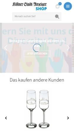 Vorschau der mobilen Webseite shop.ksta.de, KASTA-Shop - Online-Shop des