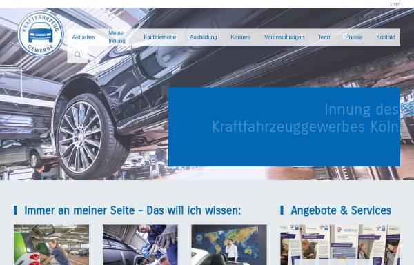 Vorschau von www.kfz-innungkoeln.de, Innung des Kraffahrzeuggewerbes Köln
