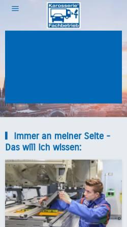 Vorschau der mobilen Webseite www.karosserie-innungkoeln.de, Karosseriebauer-Innung Köln
