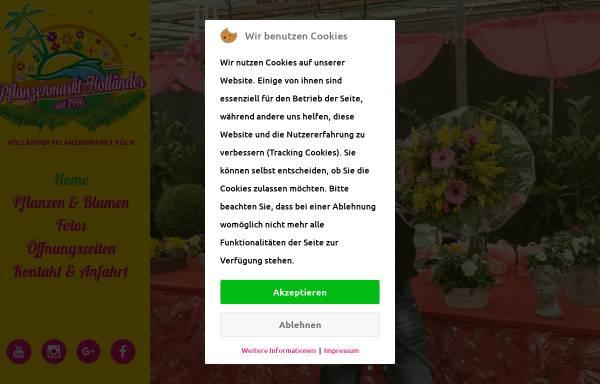 Vorschau von www.pflanzenmarkt-hollaender.de, Pflanzenmarkt Holländer GmbH & Co. KG