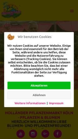 Vorschau der mobilen Webseite www.pflanzenmarkt-hollaender.de, Pflanzenmarkt Holländer GmbH & Co. KG