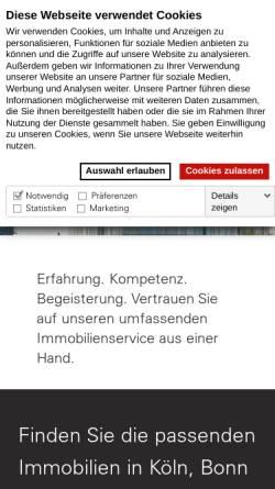 Vorschau der mobilen Webseite www.greif-contzen.de, Greif & Contzen Immobilienmakler