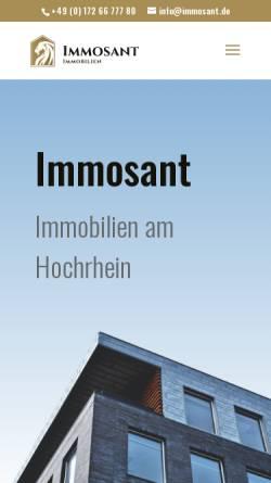 Vorschau der mobilen Webseite www.immosant.de, Immosant - Leibrock Duve Immobilien OHG