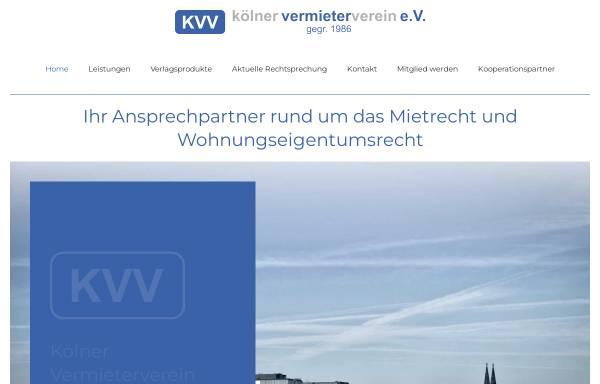 Vorschau von www.koelner-vermieterverein.de, Kölner Vermieter Verein e.V.