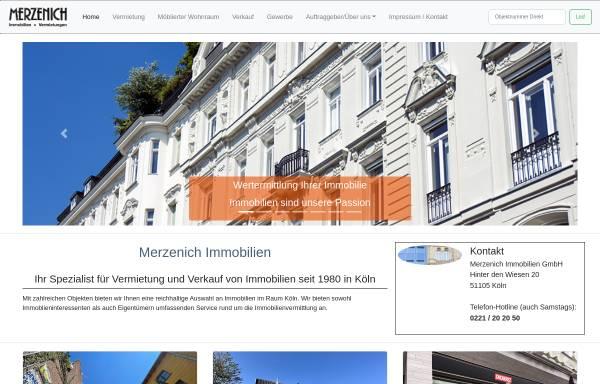 Vorschau von www.merzenich.de, Merzenich Immobilien