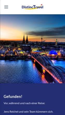 Vorschau der mobilen Webseite www.distinctravel.de, Distinctravel Reisebüro e.K.